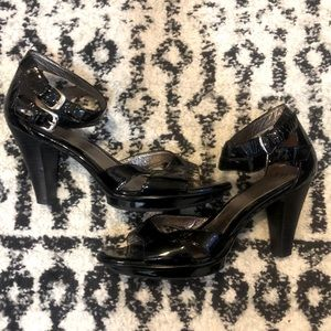 Sofft Patent Leather Strappy Heels